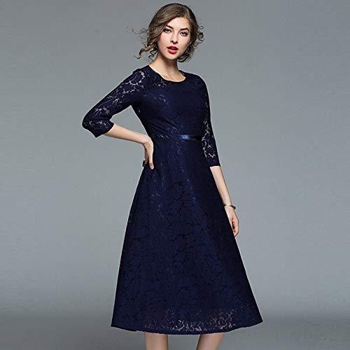 QUNLIANYI Abendkleid Abiballkleid Space Dress Frauen Elegant Abend Party Kleider Floral Gedruckt...