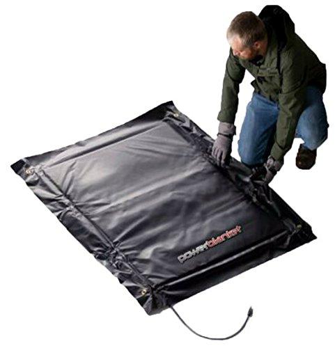 Powerblanket EH0505-EU Elektrisch verwarmd vloerontdooideken, epoxydeken en hars uithardingsdeken, 0,5 m x 0,5 m plafondafmetingen, zwart