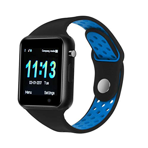 Smart Watch for Men Boys, DOROIM Android Smartwatch with Colorful UI, Bluetooth Watch Phone Compatible Samsung LG Android Phones (Black)