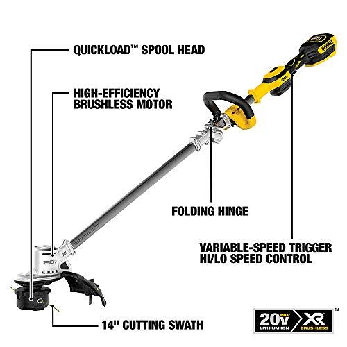 DEWALT 20V MAX String Trimmer Kit, 5-Ah (DCST922P1)