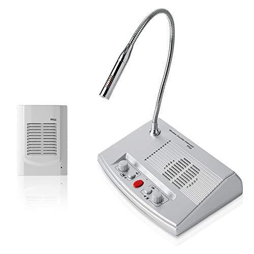Intercom-System, Hochleistungs-Zweiwege-Anti-Interferenz-Lautsprecher Intercom-Fenster-Gegenmikrofon-Gegensprechanlage für Bank- / Büro- / Laden- / Stations-Gegenfenster(EU)