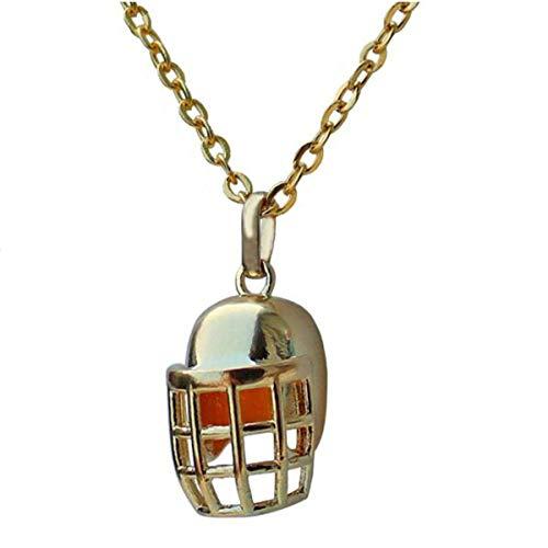 ANLW NFL Halsketten-Anhänger Kupfer-Football-Helm Hip Hop Punk Anhänger Halskette Boyfriend Geschenk des Halloween,Gold