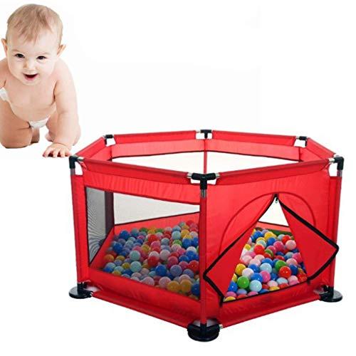 Kinderbox Voor Baby, Draagbare Speelhek Binnen of Buiten Kinderbox Hek 6-Paneel Kinderactiviteitencentrum Kamer Geschikt Voor Baby's/Peuters/Pasgeborenen/Baby's Veilig Kruipen,B