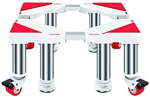 Ghongrm Base Movable Multifuncional Base Ajustable Stent 45-65 cm Muebles Pedestal de Soporte con 4 × 2 Ruedas giratorias de Bloqueo Soporte de Base de secador de refrigerador (Tamaño: 30 cm)