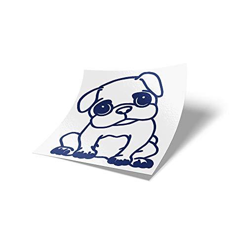 MOPS ME Autostickers, mopstickers, auto, stickers, meubels, mops, verschillende kleuren koningsblauw 049