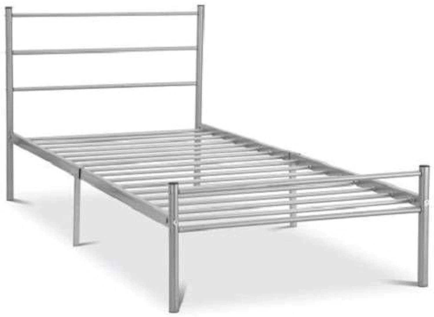 Ambers London 3ft Single Silver Metal Bed Frame