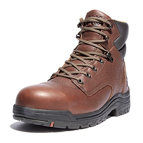 Timberland PRO Men's Titan 6' Safety Toe Work Boot,Brown/Brown,7 XW US