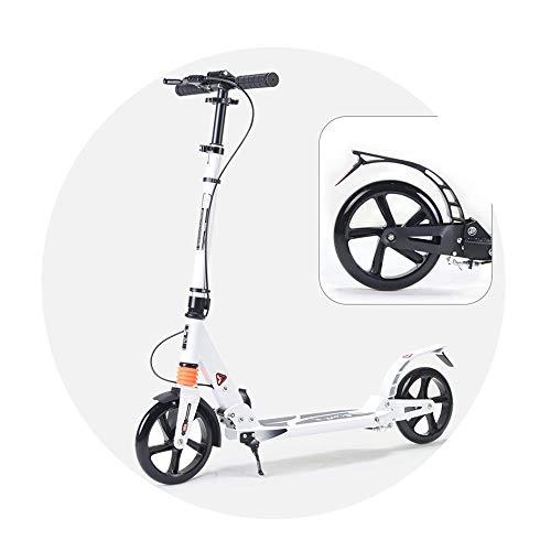 NAN Doppelbrems Erwachsener Menschen Scooter, Weiss zweirädrigen Motorroller, Handbremse Fußbremse Faltbare Jugend Universal-Last bis zu 100 kg (Color : A)