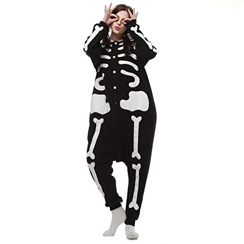 Pijamas Enteros Cosplay Adulto Ropa de Dormir Hombre Camisones Disfraces Carnaval Esqueleto Ropa Pijamas de Una Pieza Mujer