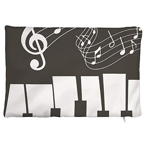 Maorongbu sostiene la funda de almohada con doble encanto musical notas musicales y diseño de piano para cama o sofá para decorar en casa y cocina, hotel o firme, el mejor regalo del día de la madre, Navidad, cumpleaños para mujeres, papá, amigos.