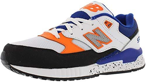 New Balance 530 Gradeschool Medium Kid's Shoes Size 4 White/Black/Blue