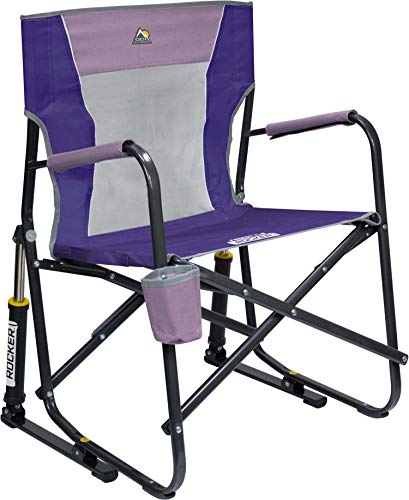 GCI Outdoor Freestyle Folding Chair Outdoor Rocking Camp Portable Lightweight Rocker Mesh Chair Lilac