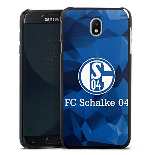 DeinDesign Hard Case kompatibel mit Samsung Galaxy J5 2017 Schutzhülle schwarz Smartphone Backcover FC Schalke 04 Muster Offizielles Lizenzprodukt