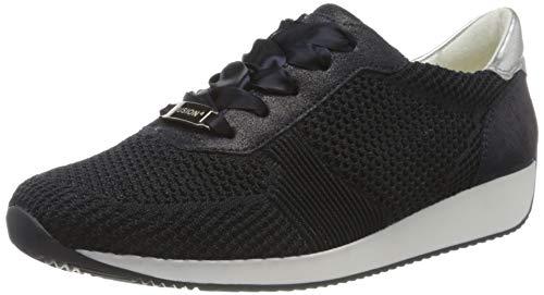 ARA Damen Lissabon Sneaker, Blau (Blau, Silber 47), 39 EU (6 UK)