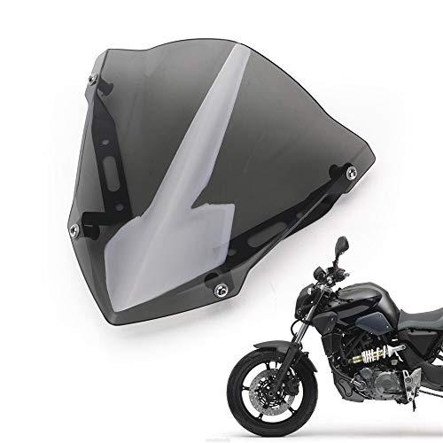 XCJ Motorrad Windschutzscheibe Motorrad Windschutzscheibe Motorrad Zubehör Frontwindschutzscheibe Fit for Yamaha Mt-07 Fz-07 2018 2019 2020 FF Windabweiser Spoiler Einstellbar Windschild