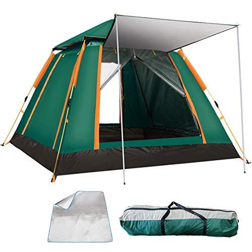KoKoBin Tenda da Campeggio Automatica per 4 Persone -Impermeabile Tenda con zanzariera e 100% Anti UV, 215 * 215 * 142cm