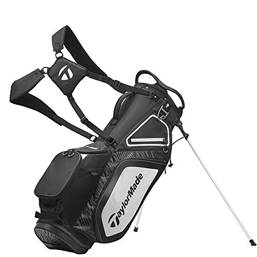 TaylorMade Stand 8.0 Bag, Black/White/Charcoal