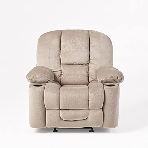 Christopher Knight Home Gannon Fabric Gliding Recliner, Latte
