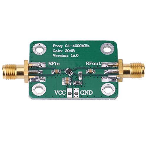 Viudecce Amplificador de Banda Ancha RF de Banda Ancha de 0,1-4000 MHz, MóDulo Amplificador de RF de Microondas LNA de Bajo Ruido de 20 DB, MóDulos de Placa de CC de Ganancia