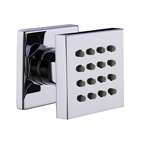 Square Solid Brass Shower Body Sprays Massage with Chrome Finish Spa Jets Sets Water Saving In Wall Bathroom Shower Accessories