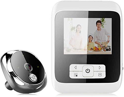 Conversation bidirectionnelle connectée Wi-Fi, sécurité sans fil, porte vidéo pour enregistrement par intercom visuel HD, vision nocturne infrarouge Cat's Eye 120 °, bague détection mouvement à fa