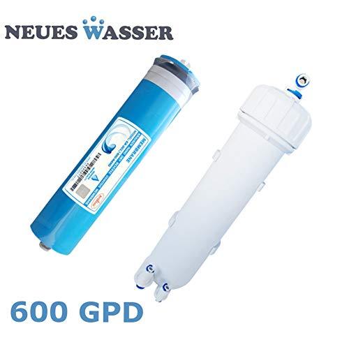 Membrane 600 GPD Umkehrosmose-Membrane 3012-600 für Osmoseanlagen-Umkehrosmose, Osmose Filter, Osmose-Wasser, Osmoseanlage Trinkwasser, Wasserfilter (Membrane inkl. Membran-Gehäuse)