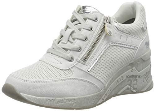 MUSTANG Damen 1319-305 Sneaker, Cremeweiß, 39 EU