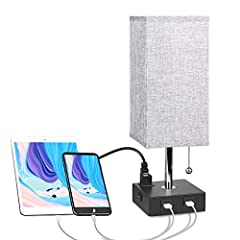 ※USEFUL USB PORTS► It's handy to have dual 5V/2A USB ports on the base of this decorative table lamp, you can charge two DEVICES AT ONCE, such as mobile phones, tablets, kindle readers, iPad, iPhone and so on. The USB port functions regardless of whe...
