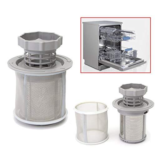 Hitommy 2-delige afwasmachine Mesh Filter Set Grijs PP Vaatwasser voor Bosch 427903 170740 Serie Vervanging