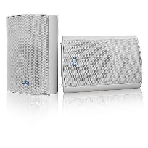 """Wireless Streaming 6.50"""" Indoor/Outdoor Weatherproof Patio Speakers, Bluetooth Speaker (Grey - Pair) by Sound Appeal"""