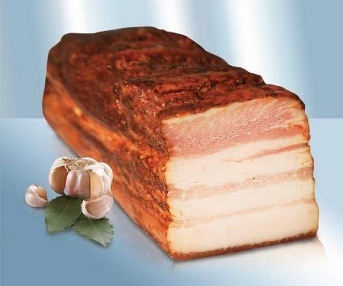 """Gegarter Schweinebauch """"Salo Po-ukrainski s Tschesnokom"""", geräuchert ca.600-630gg"""