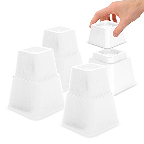 DuraCasa Bed Risers - Raises Your Bed or Furniture to Create Up to an Additional 8 Inches of...
