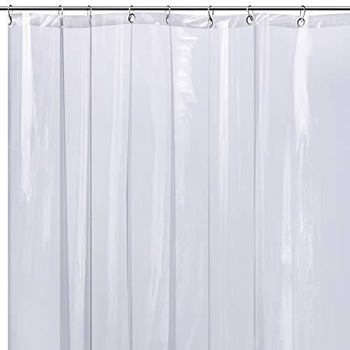 Badezimmer Duschvorhang Transparent Durchsichtig Wasserdicht - Vorhang für Dusche & Badewanne 180x180 Shower Curtains Design Schimmelresistent Wasserdicht Antibakteriell & Geruchsneutral