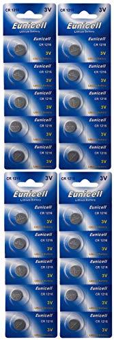 Eunicell 20 x CR1216 (4 Blistercards a 5 Batterien) EINWEG Markenware