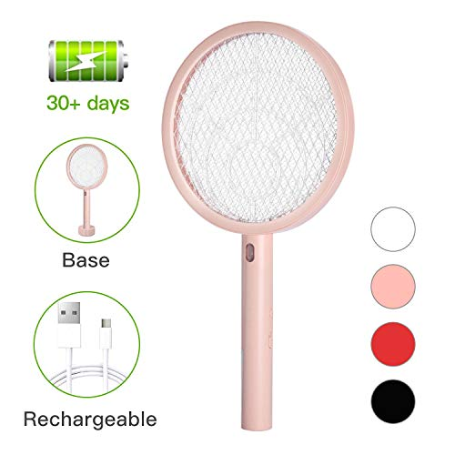 Electric Bug Zapper Fly Swatter Zap Mosquito for Indoor and Outdoor Pest Control, USB Rechargeable,...
