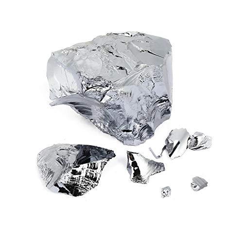 Silicio monocristalino - 99,99% de alta pureza del silicio metal del elemento 14 Semiconductor Si monocristalino Block (50 g)
