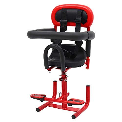SBDLXY Asiento para niños de Motocicleta eléctrica, Asiento de Seguridad Amortiguador de Golpes de Seguridad para Scooter de Coche con batería Delantera, Rojo