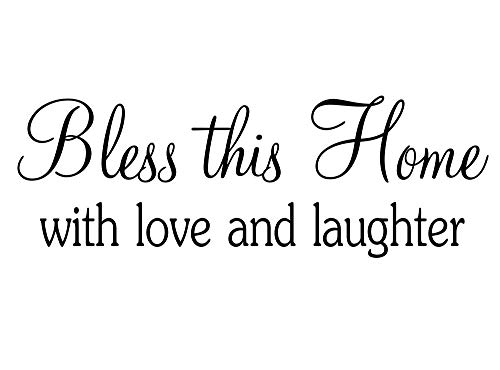 Imposing Design #3 Bless This Home with Love and Laughter 23 x 8 Vinyl Wall Quote Children School Cute Adventure Arrow Sticker Office Decal Teacher Motivational Decor Inspirational