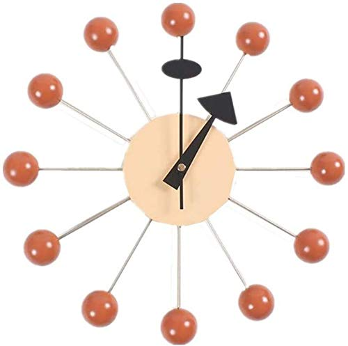 BANNAB wpaacb Reloj de Pared sin Ruido de tictac Reloj de Pared Moderno Reloj de Pared Digital Relojes de Pared para dormitorios Reloj de Pared Grande Reloj de Pared Moderno Naranja, Talla única