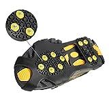 Tuimiyisou Grippers De Hielo Clases De Tracción Zapatos De Dientes Caminata De Dientes Traction Hielo Cleat Spikes Crampones para Caminar Camping