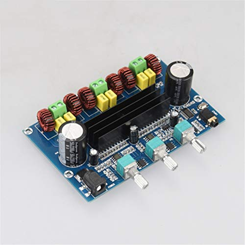 Flashing Placa Amplificadora Digital Bluetooth 5,0 Tonos De Volumen 2,1 Canales Estéreo Clase D 50 W * 2 + 100 W Audio De Altavoz para AUX XH-A305 (Color : XH-A305K Shell)