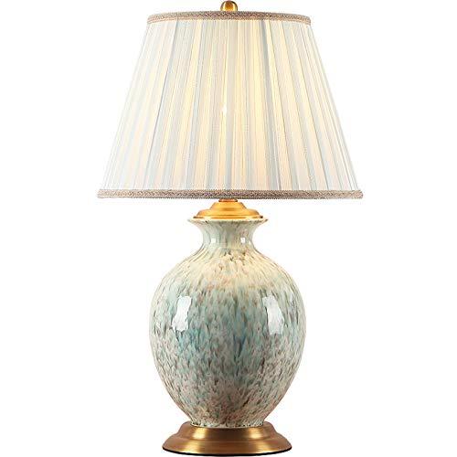 N / C Lámpara de Mesa, lámpara de cabecera de cerámica de Cobre Moderna, Cuerpo de lámpara de Esmalte esmaltado, Sala de Estar, Sala de Estudio, decoración de Dormitorio luz Nocturna