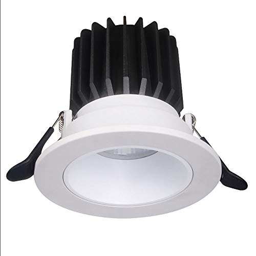 Raelf Luz de Pared COB 12W LED Downlight Ahuecado Agujero de la lámpara del Centro Comercial Faro de luz del Panel de la CA 85-265V decoración Fondo Spotlight CRI ≥80 CREE Redonda de Alto índice de v