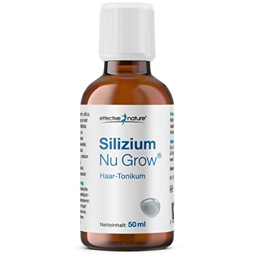 Effective Nature – Silizium Nu Grow Haar-Tonikum | Beschleunigt den Haarwuchs | Nährstoffkomplex mit Silizium | Mit ausgewählten ätherischen Ölen | Zur Äusseren Anwendung | 50 ml