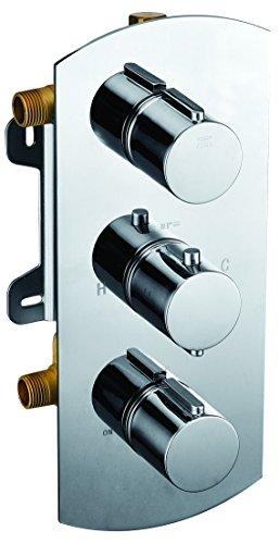 Alfi marca ab3901redondo 2way termostático ducha mezclador
