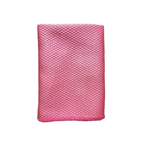 Toalla de limpieza de microfibra suave de vidrio absorbible cocina paño de limpieza toallitas ventana de mesa coche plato toalla trapo-rojo 30x45