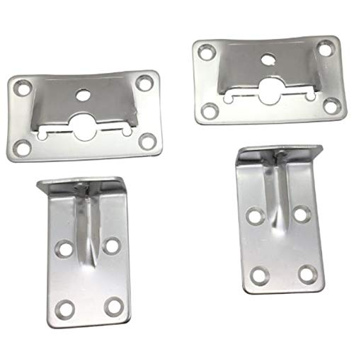 Basage 2 Set Marine Grade Steel Table Bracket Set Removable Multiple Usage for House Boat Marine Accessories Hardware