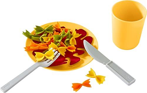 HABA 305723 - Mittagessen-Set Nudelpfanne, Küchenspielzeug ab 3 Jahren