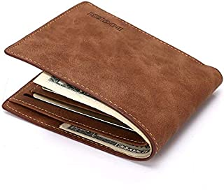 LDUNDUN-BAG, 2019 Short PU Leather Wallet Men's New Wallet Card Package (Color : Brown, Size : S)
