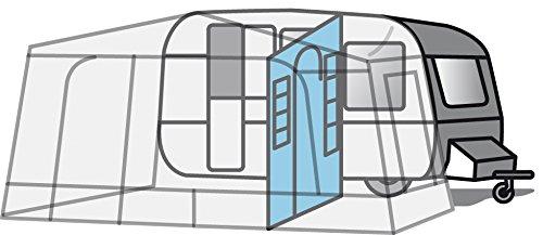 Eurotrail Universal Trennwand für Vorzelte mit tür und 2 Ordnungssschaffer